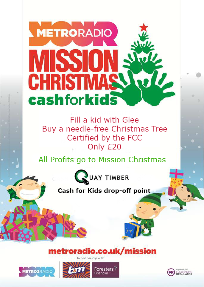 Buy a  Christmas tree and Donate to Cash For kids